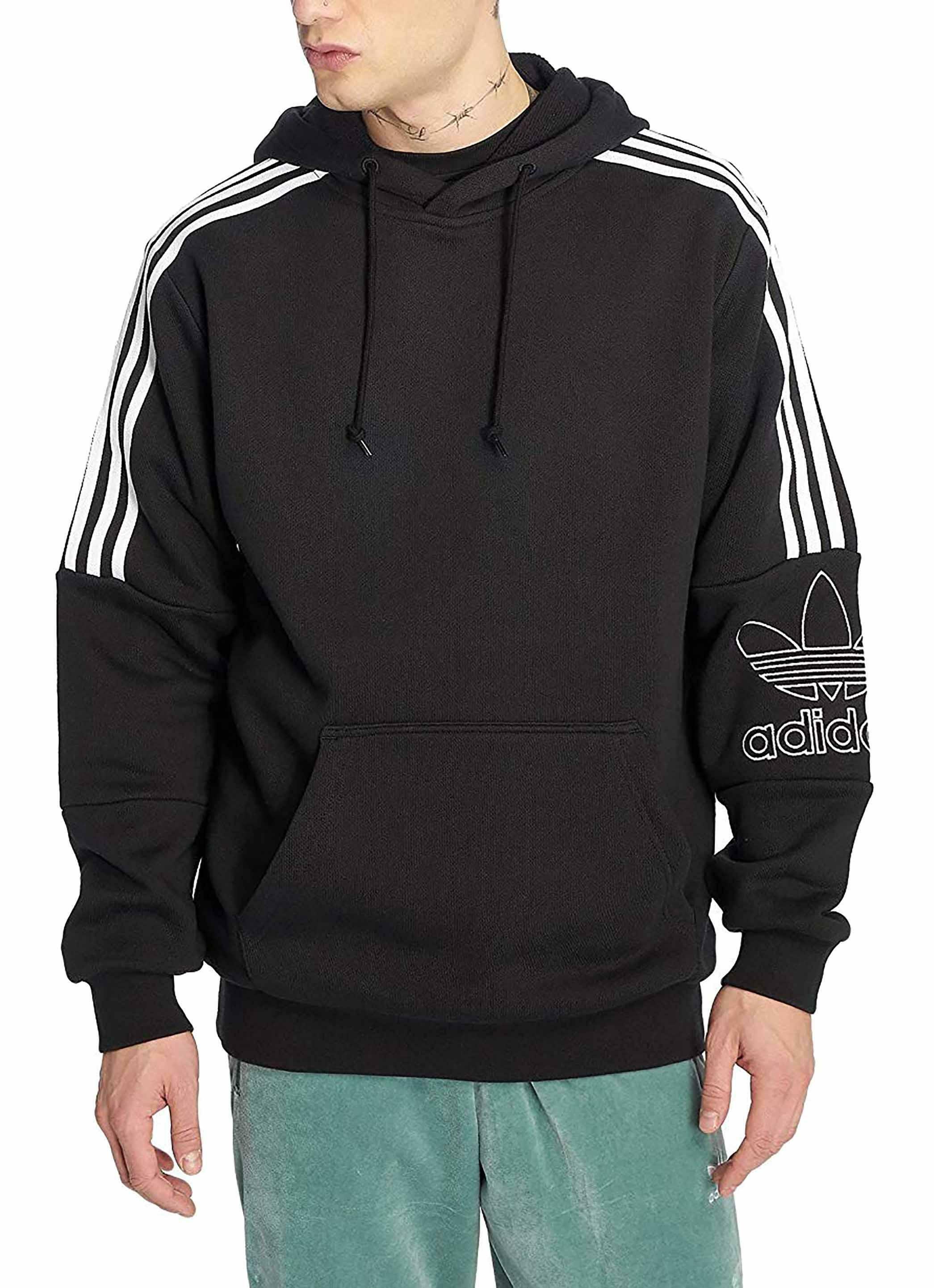 miglior servizio fee87 ccd43 Adidas outline felpa cappuccio uomo nera dx3850