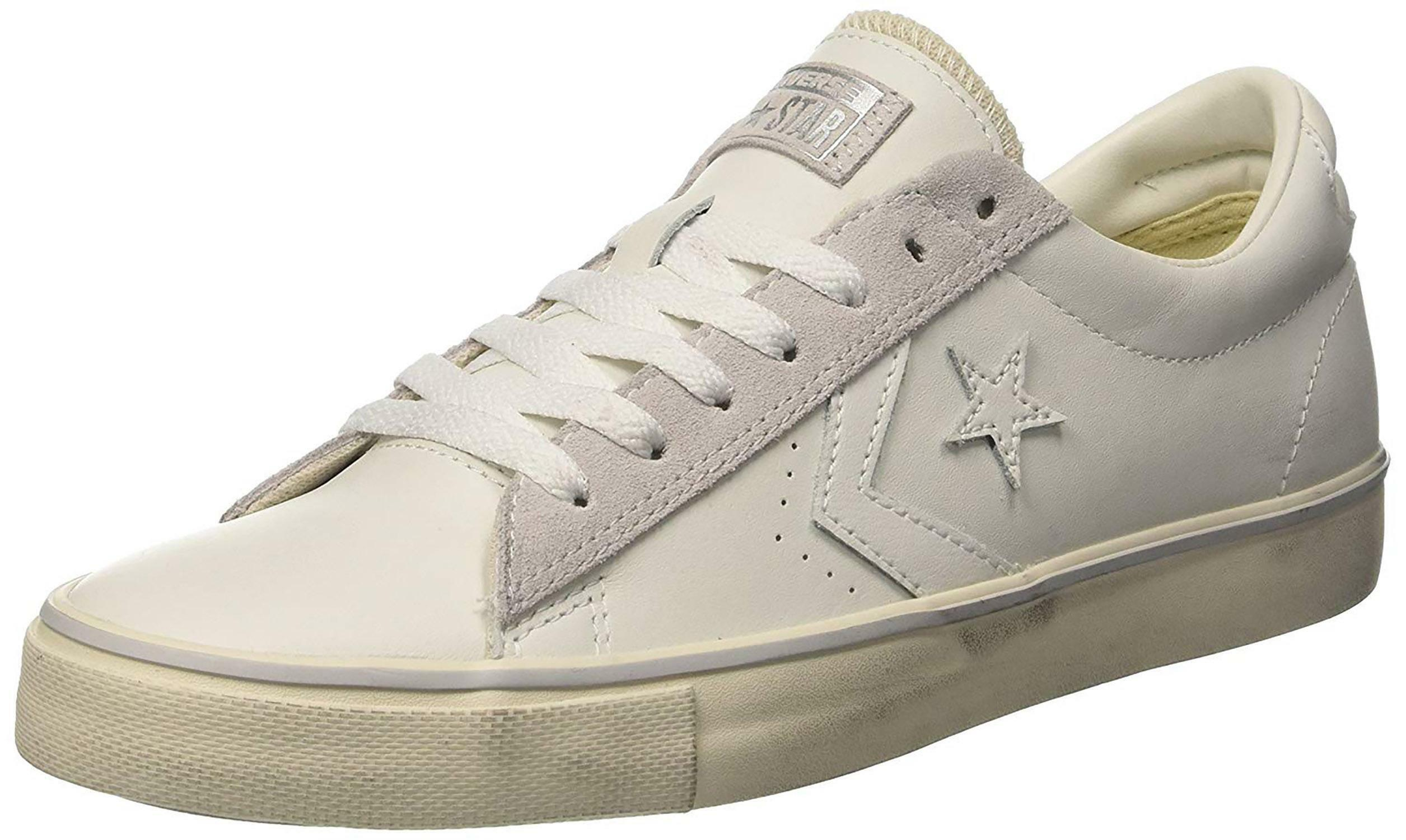 2converse leather uomo bianche