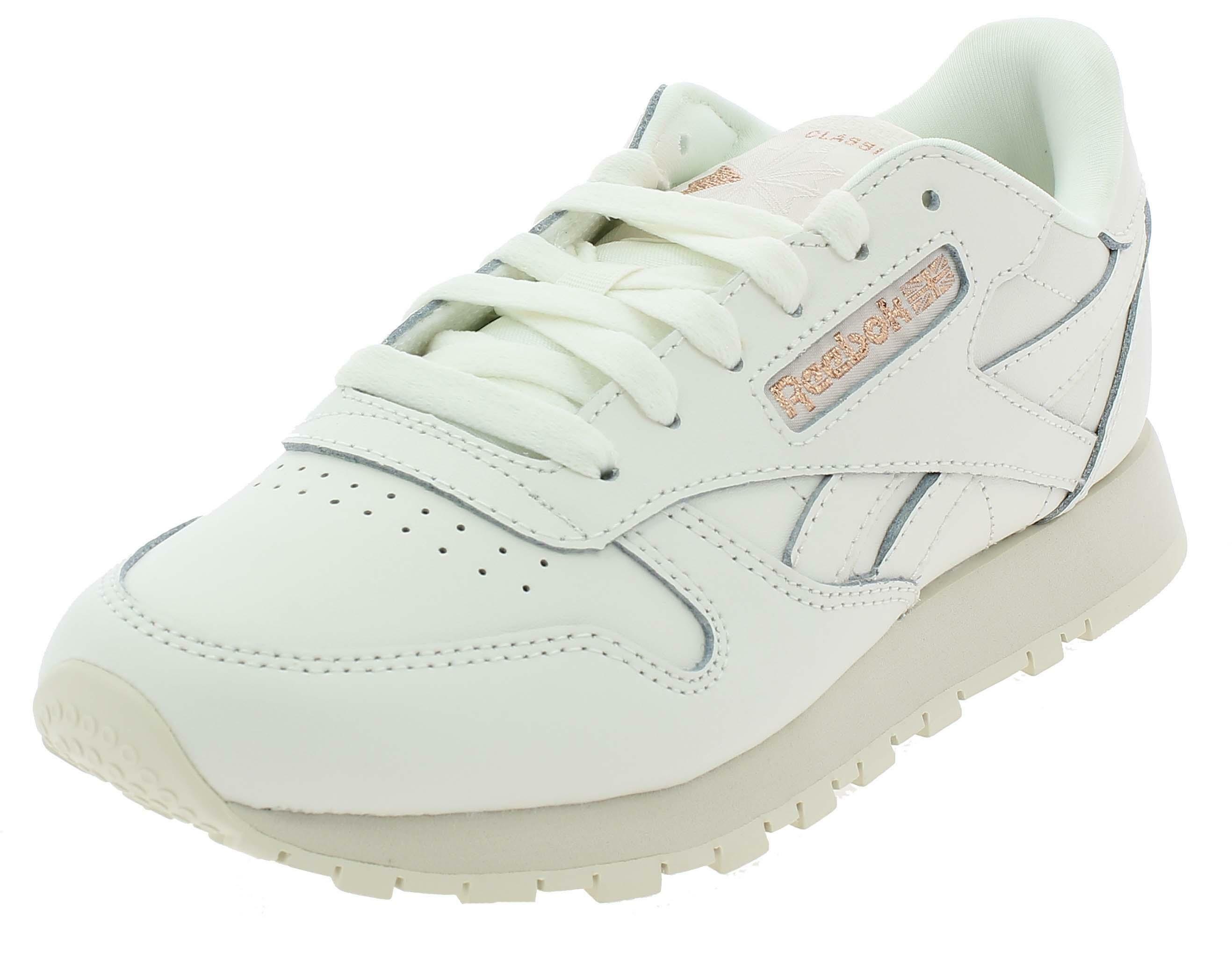 Reebok classic leather scarpe sportive donna bianche dv3762