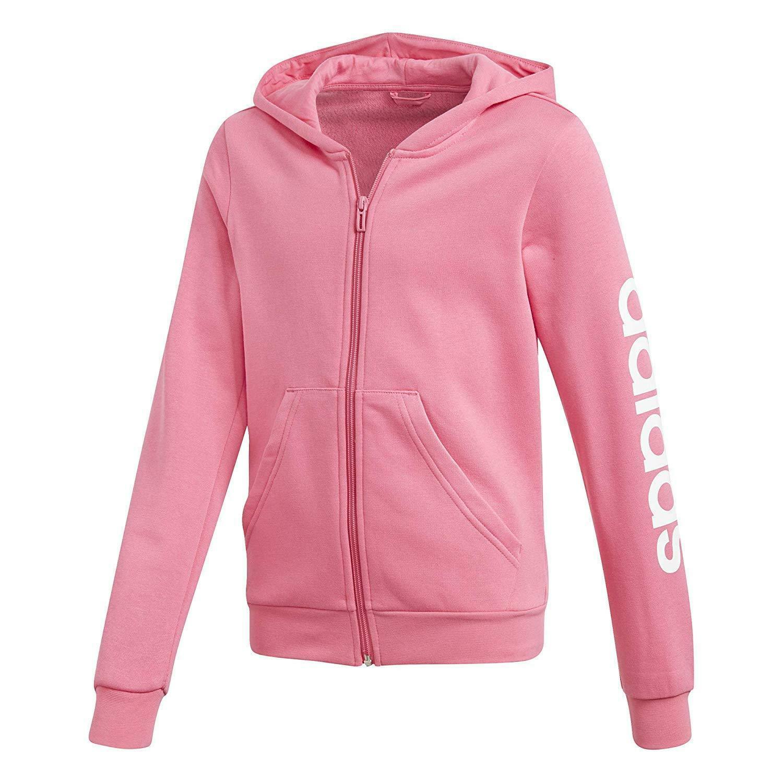 adidas yg e lin giacchetto cappuccio bambina rosa dv0360