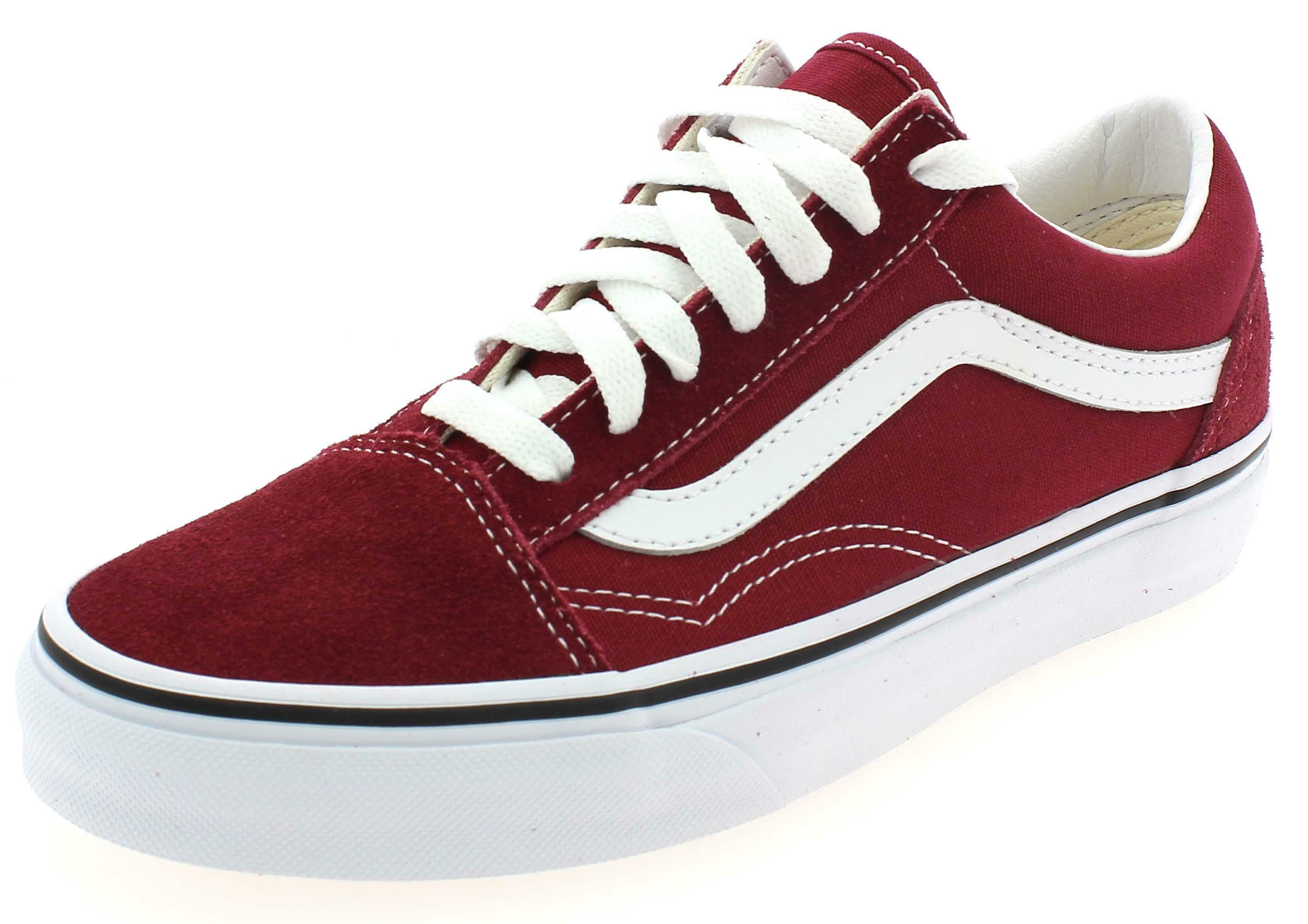 VANS OLD SKOOL WOMAN'S BURGUNDY SPORTSHOES VN0A38G1VG41