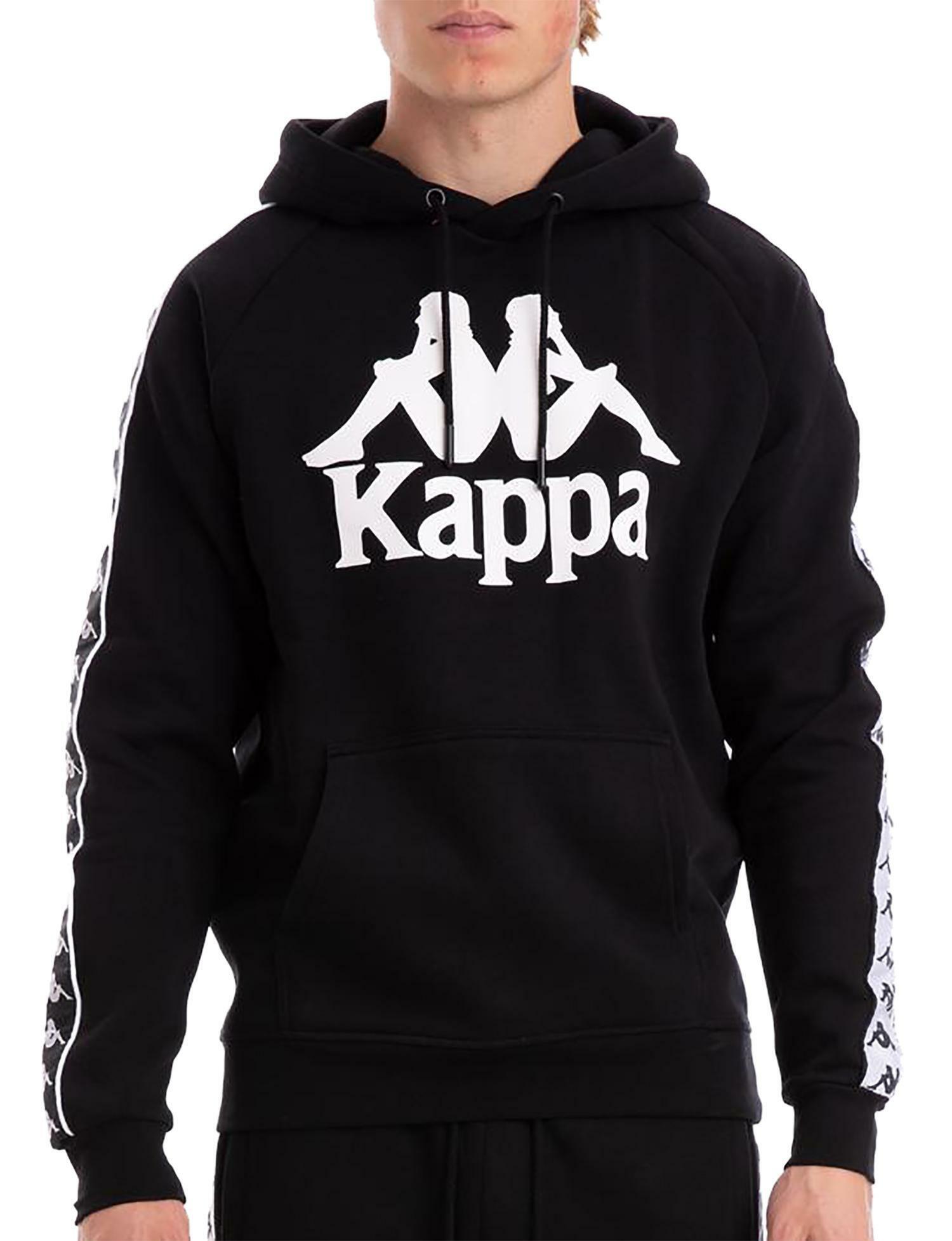 Kappa 222 Banda Hurtado Felpa con Cappuccio Uomo Nera 303WH20900