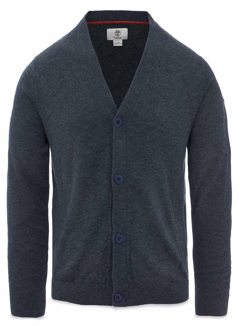 timberland timberland cardigan uomo grigio 100% lana