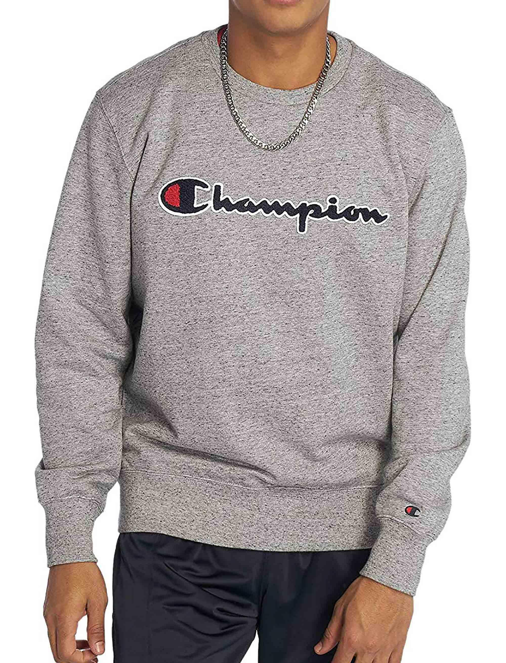 Details zu CHAMPION CHAMPION SWEATSHIRT HERREN GRAU 212942EM017