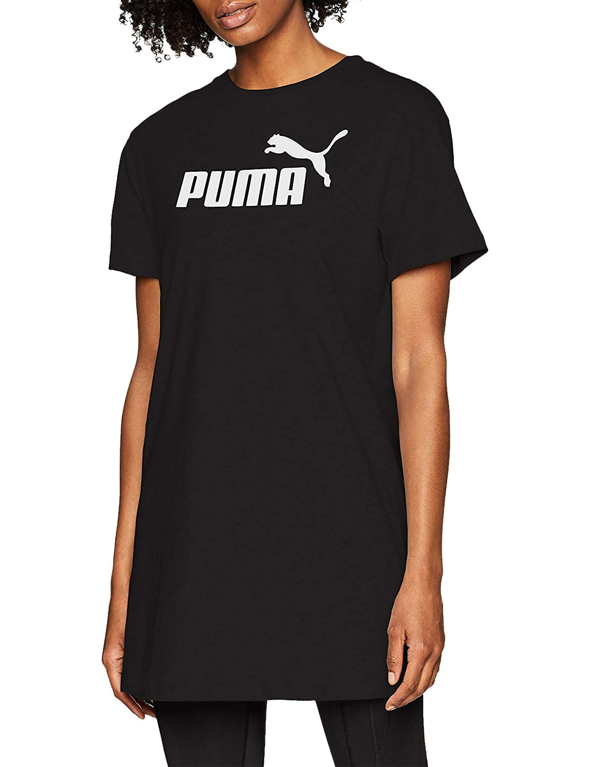 big sale 72459 a29c0 Puma logo tee vestito donna nero 85468401