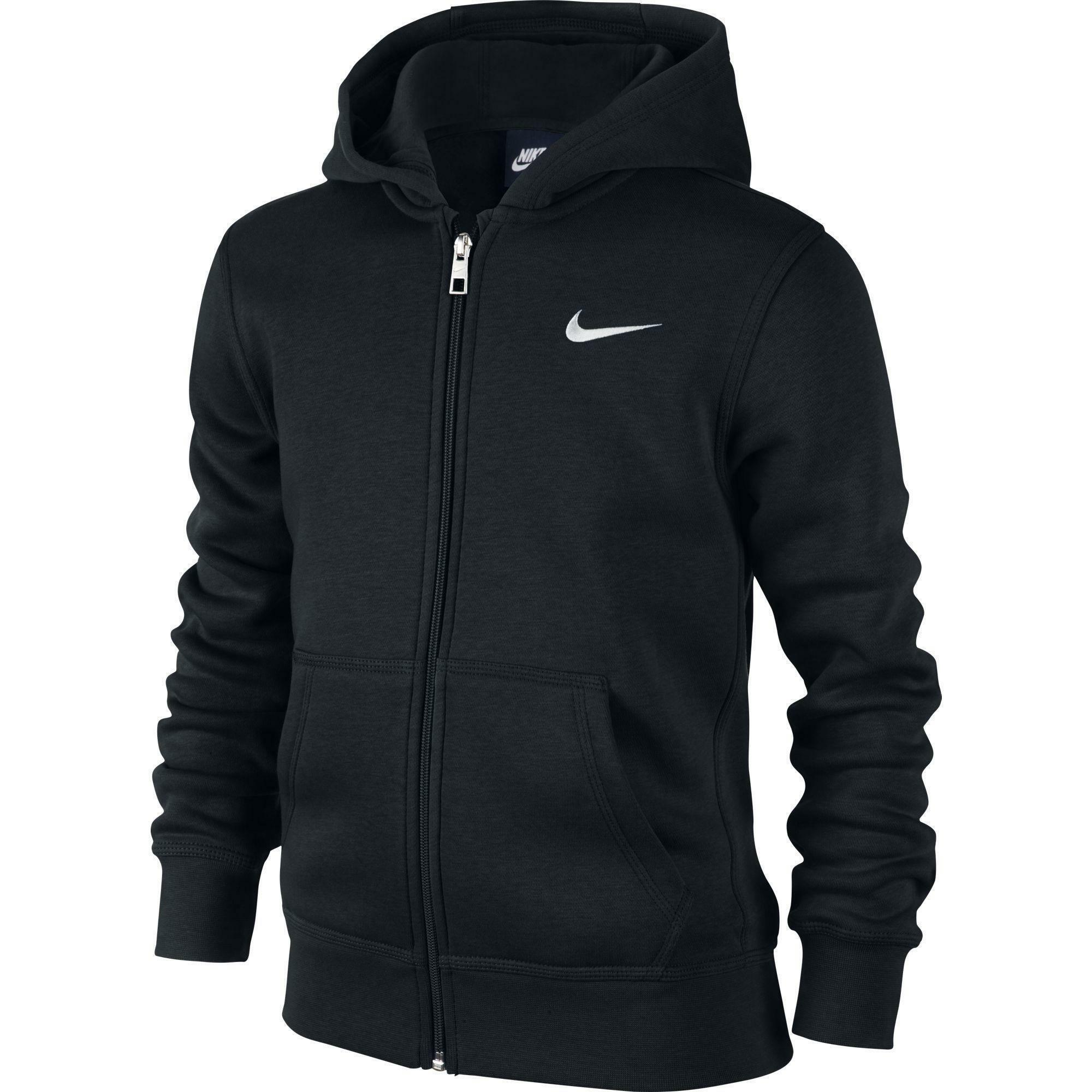 nike giacchetto felpato bambino nero 619069