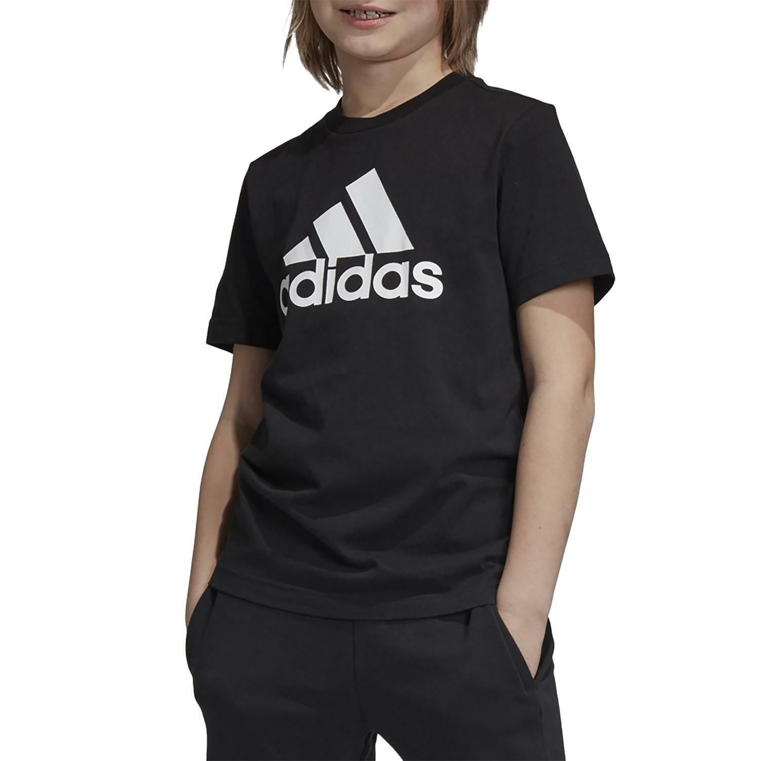 adidas yb mh bos t t-shirt bambino nera dv0816