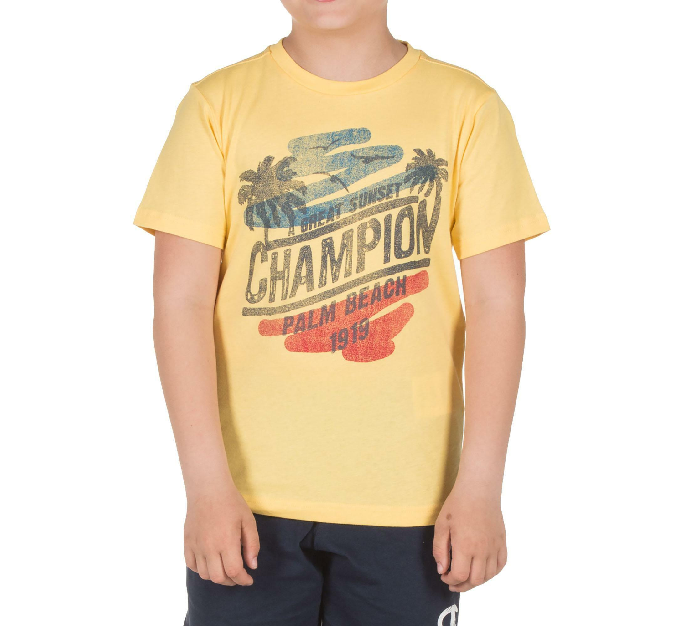 champion t-shirt bambino gialla 304946ys019
