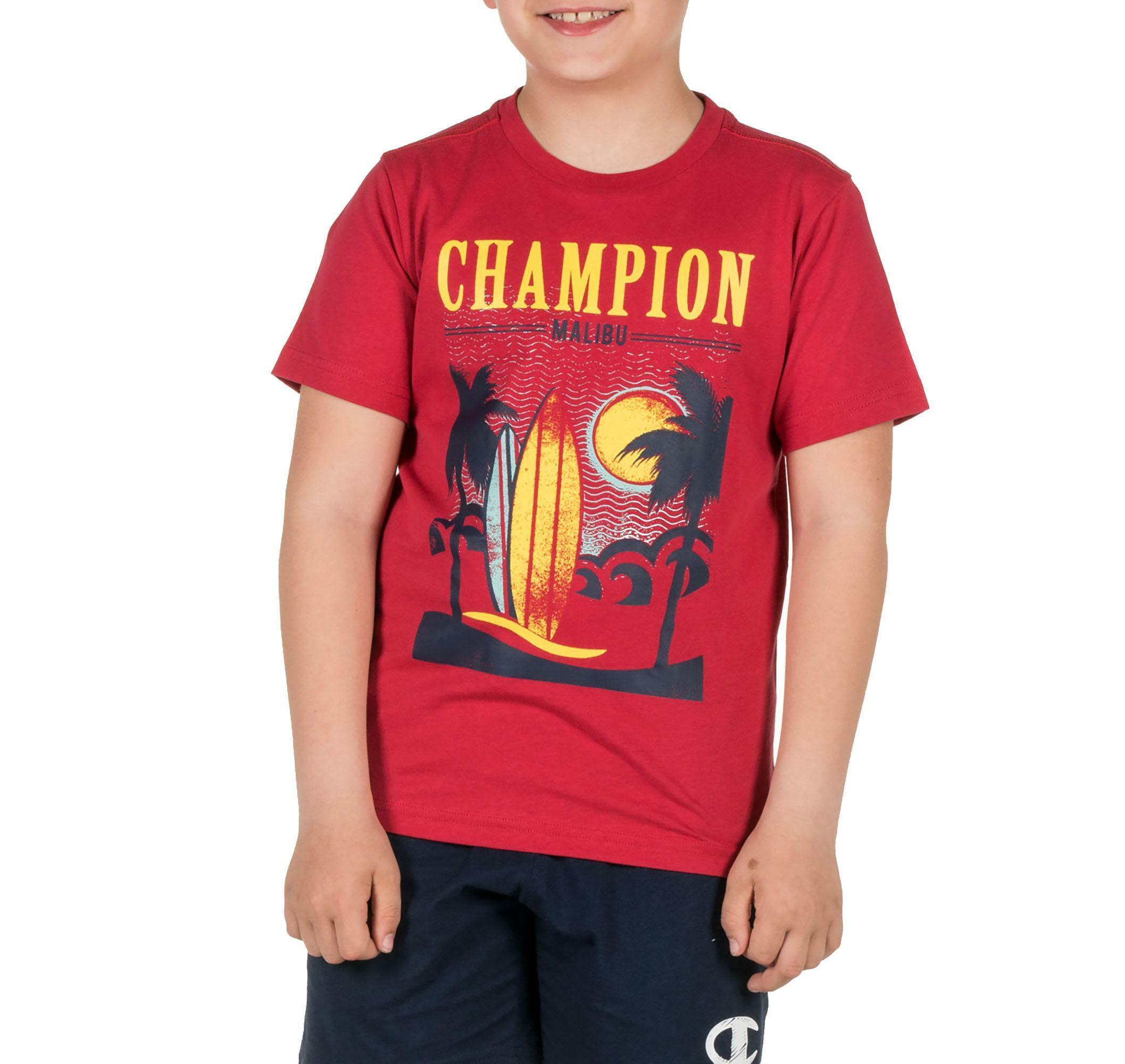 champion t-shirt bambino rossa 304946ms038