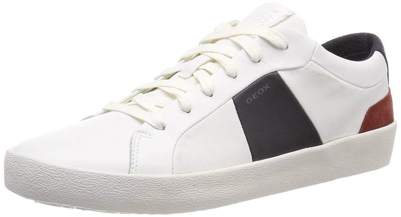 geox u warley b scarpe sportive uomo bianche u926hbc0899