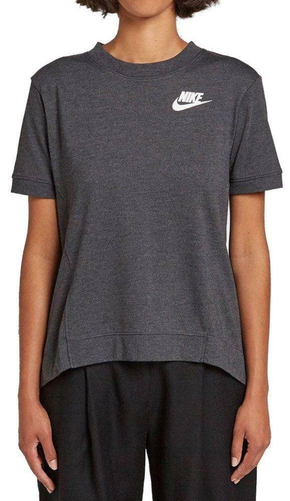 nike nike gym tee t-shirt donna grigia