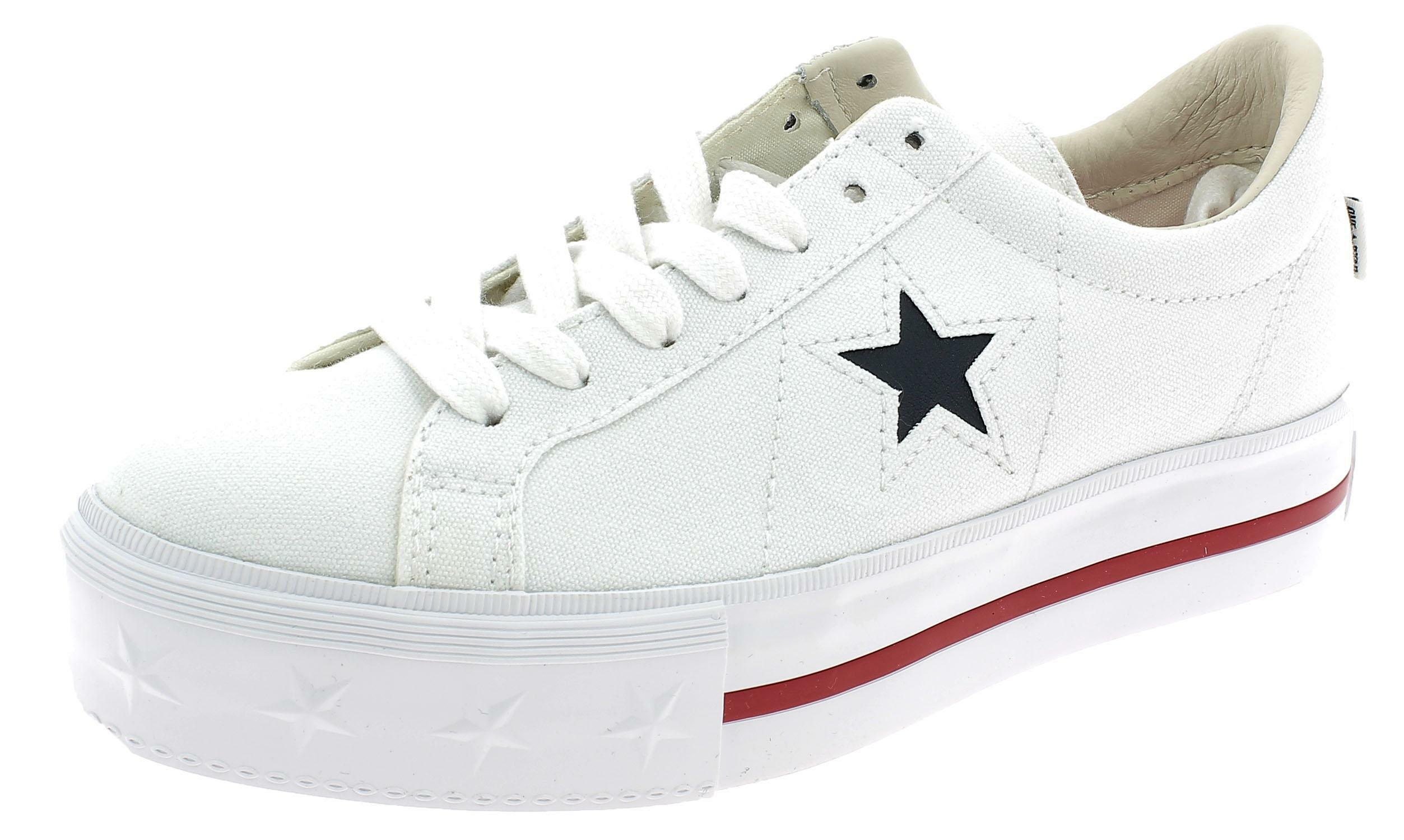 detailed look e1e9b ac3ca converse one star platform bianche
