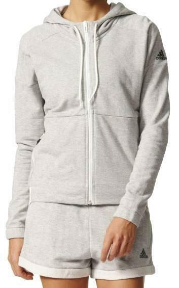 adidas adidas away day hoodie giacchetto donna grigio