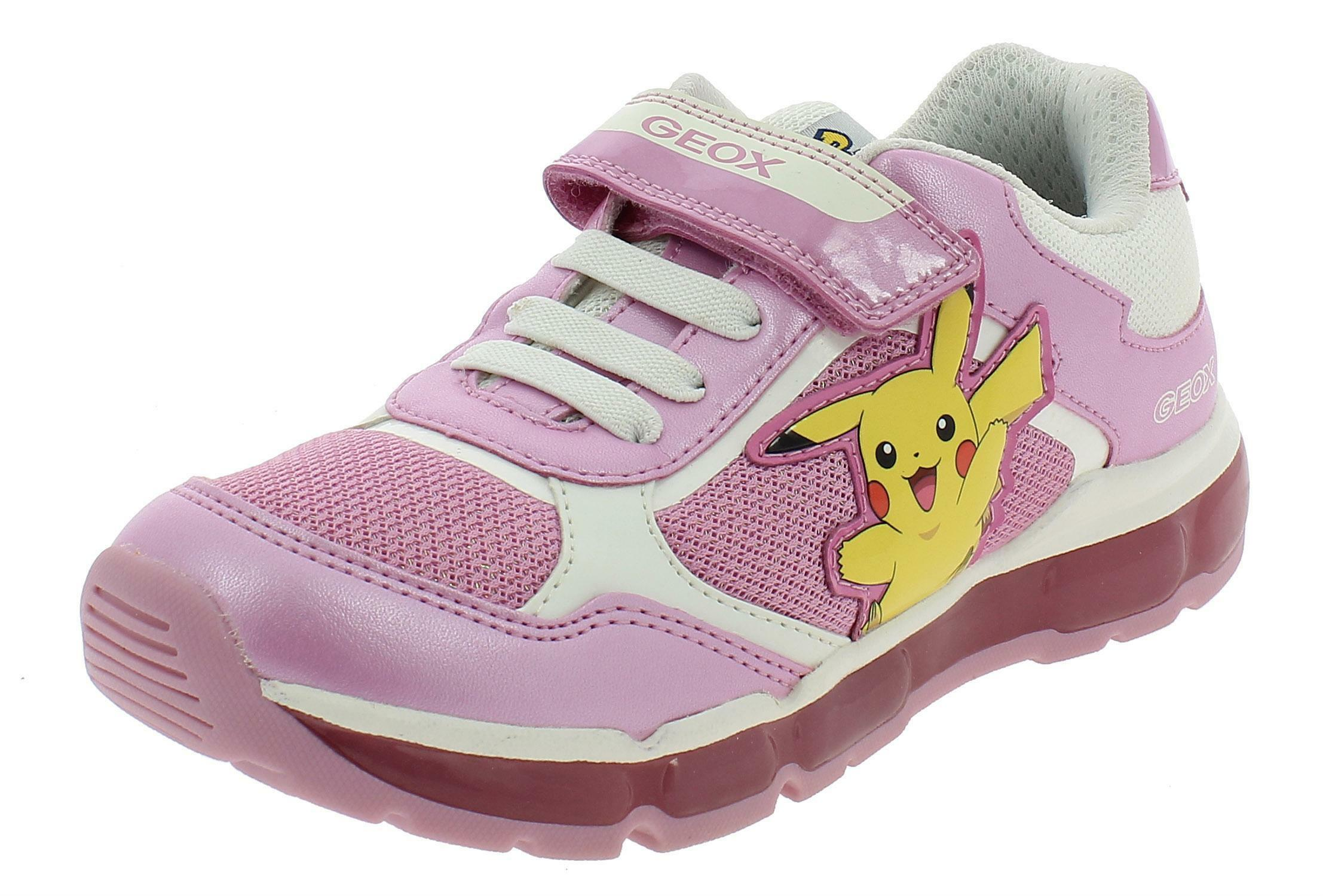 GEOX J ANDROID G GIRL/'S SILVER SPORTSHOES J9245BC0550