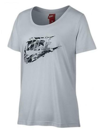 nike nsw tee t-shirt donna grigia
