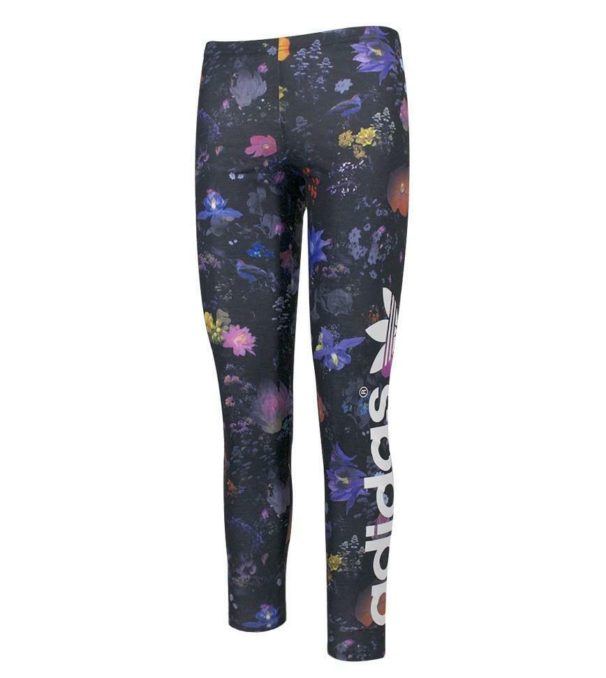 adidas adidas leggings bambina fantasia fiori multicolore