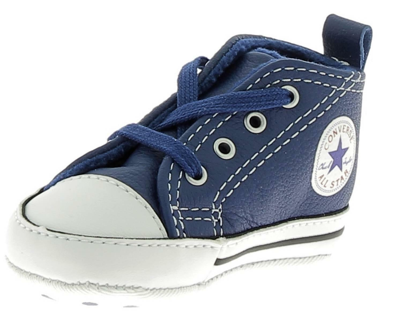 converse ctas frist scarpe culla bambino blu pelle