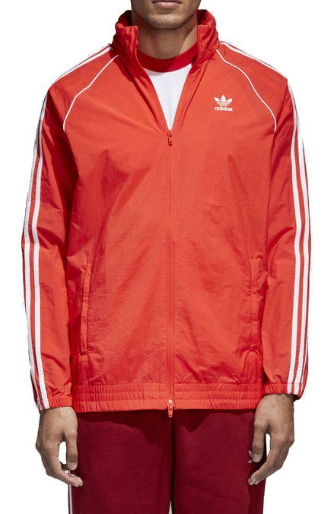 adidas adidas sst windbreaker giacchetto uomo rosso