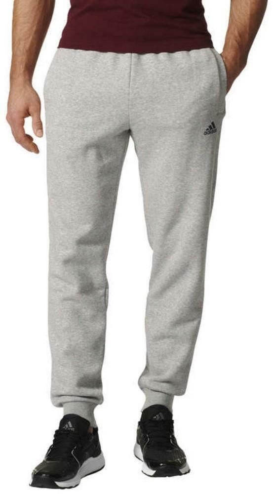 adidas adidas ess t pantalone tuta uomo grigio felpato bk7417
