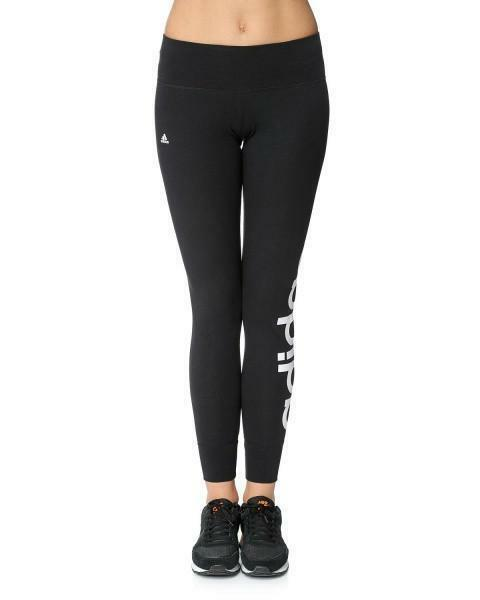 adidas ess linear tight leggings donna neri s18467