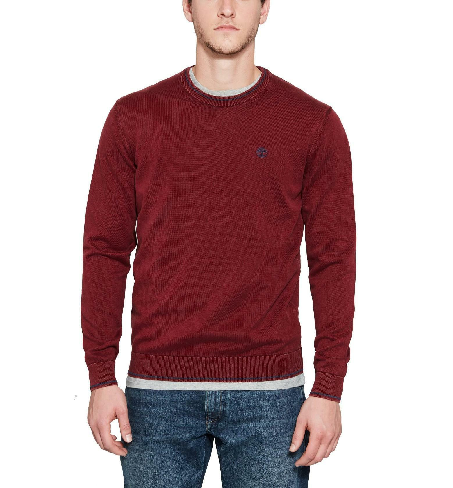 timberland timberland long point maglioncino uomo cotone bordeaux