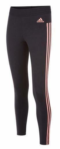 adidas adidas ess 3s tight leggings donna neri elasticizzati