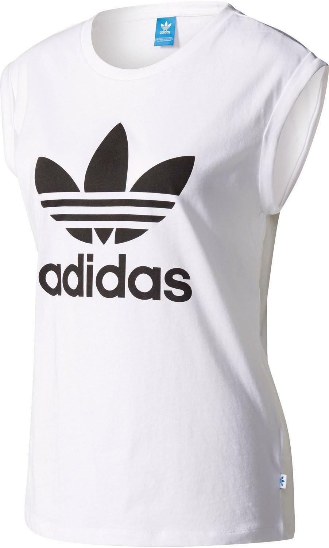 adidas adidas bf trf ru tee canotta bianca
