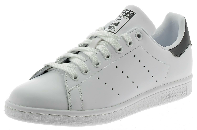adidas stan smith scarpe sportive bianche grigie pelle