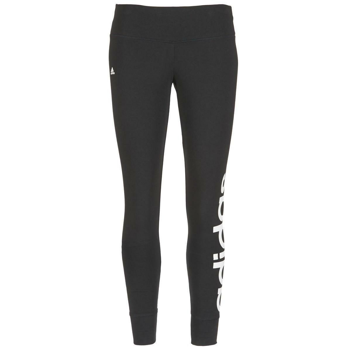 adidas adidas ess lineartight pantaloni stretch donna neri aj4594