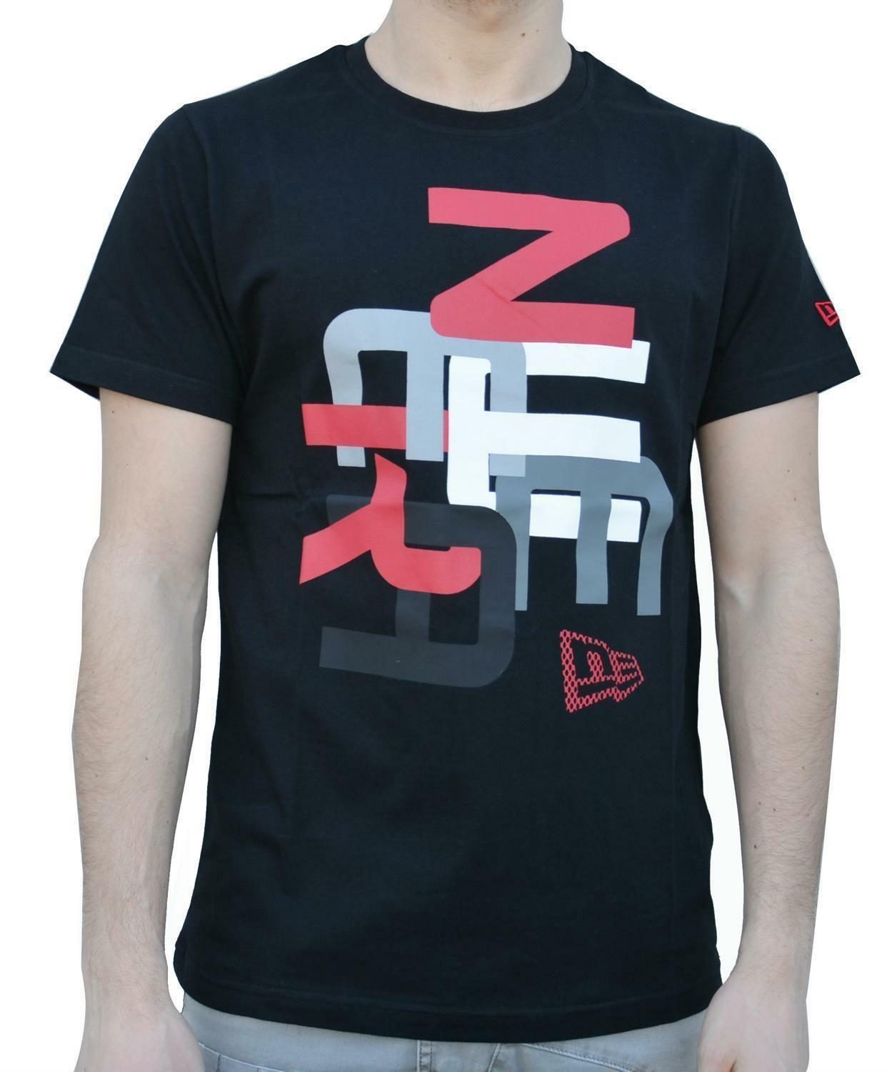 new era jumble tee t-shirt uomo nera