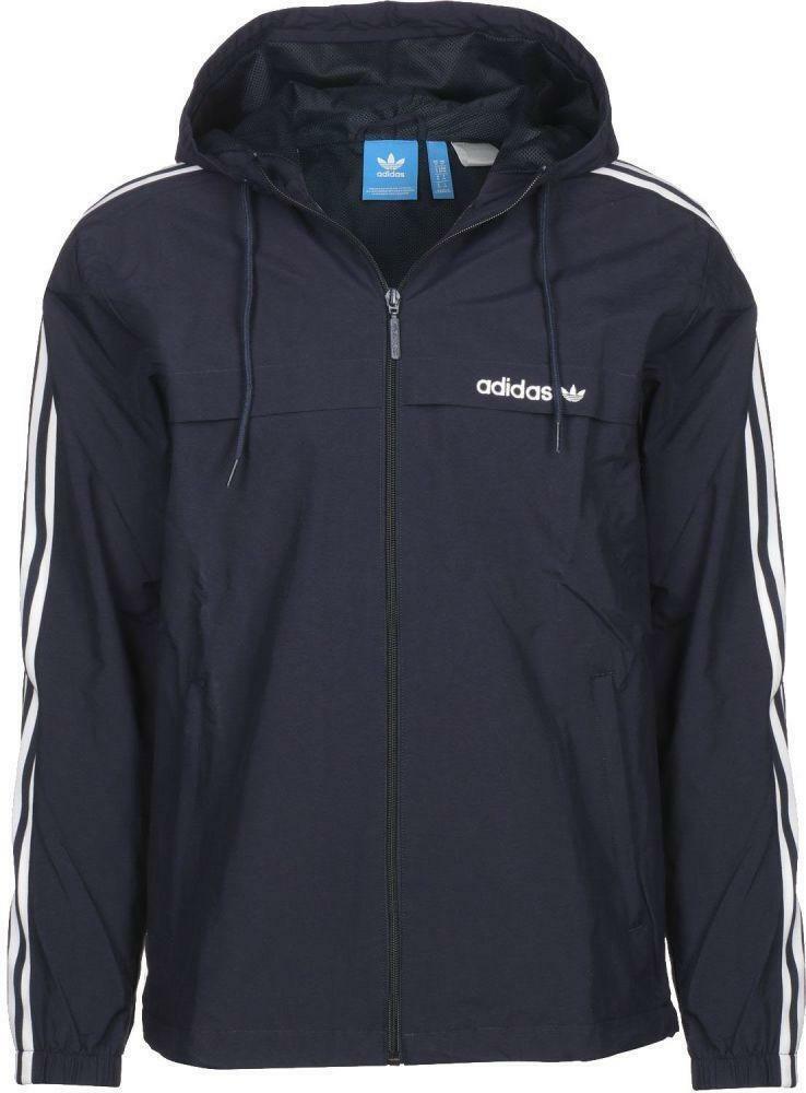 adidas adidas 3striped wb giacchetto uomo leggero blu