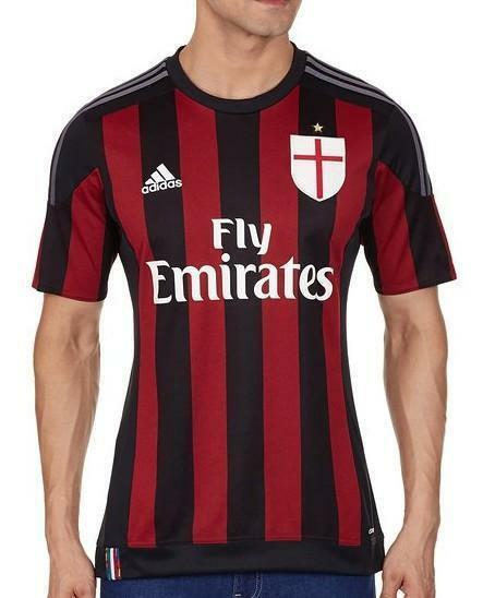adidas adidas t shirt jersey ac milan serie a 2015/2016 s11836