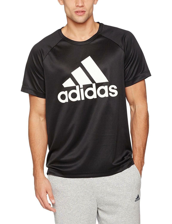 adidas adidas d2m tee logo t shirt uomo nera