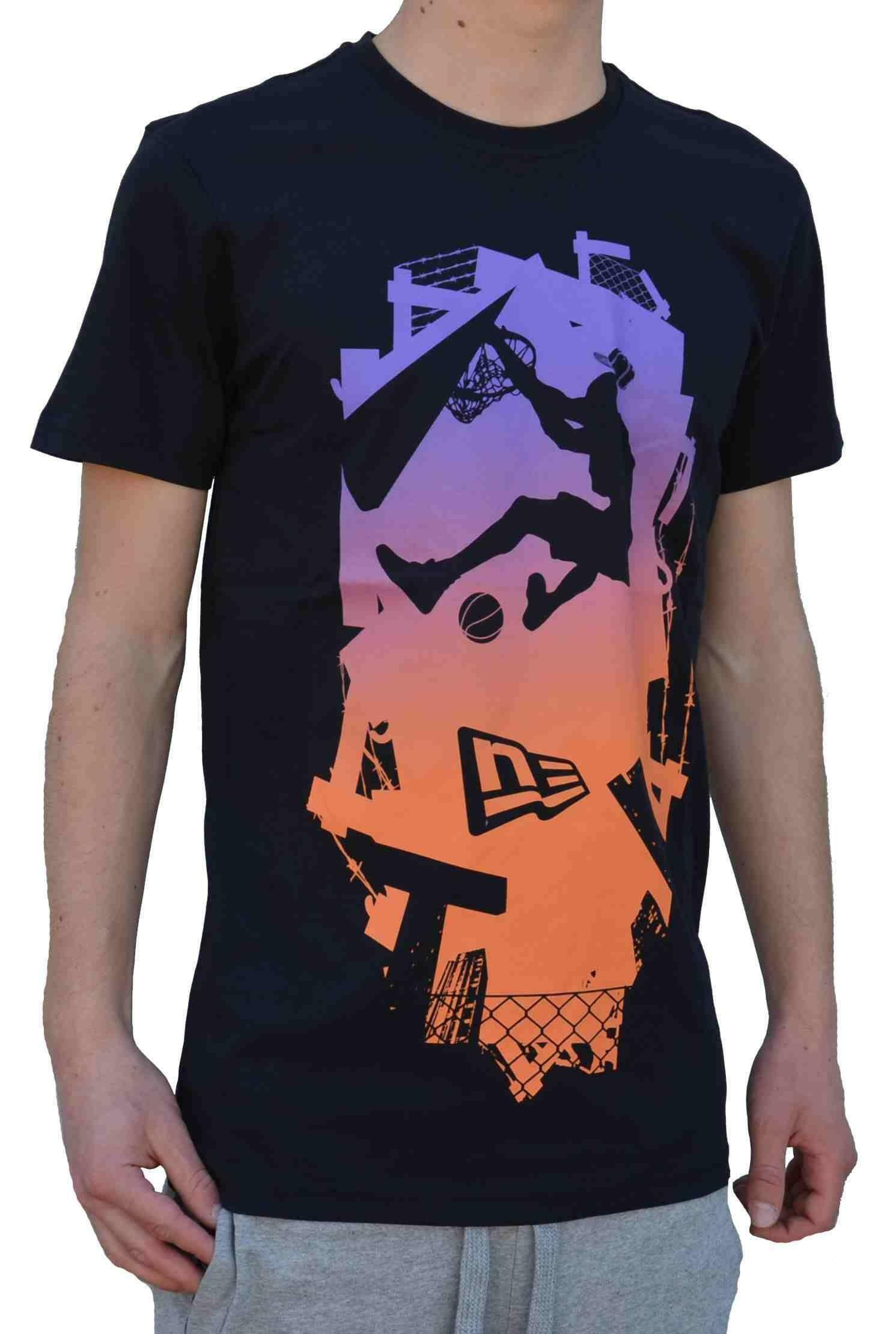 new era new era ne slam dunk tee t-shirt uomo cotone
