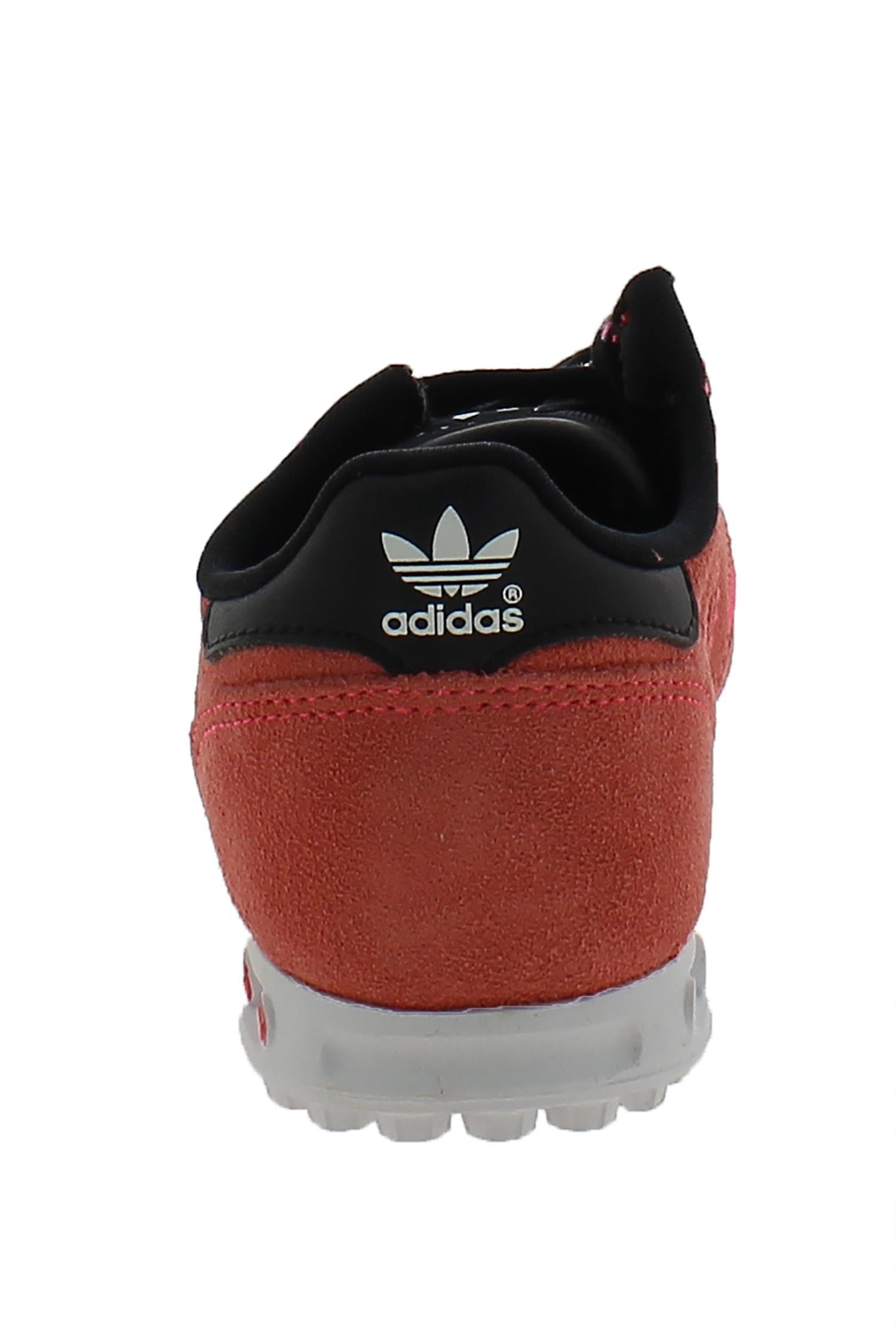 adidas adidas la trainer scarpe sportive rosse pelle tela s82616