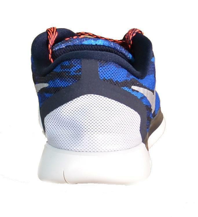 nike nike free 5.0 print gs scarpe sportive blu pelle tela 749681