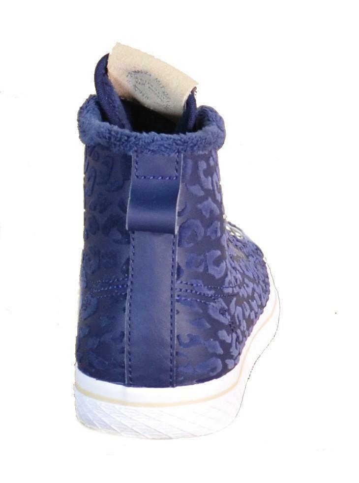 adidas adidas honey hook w scarpe sportive alte donna blu pelle s77425