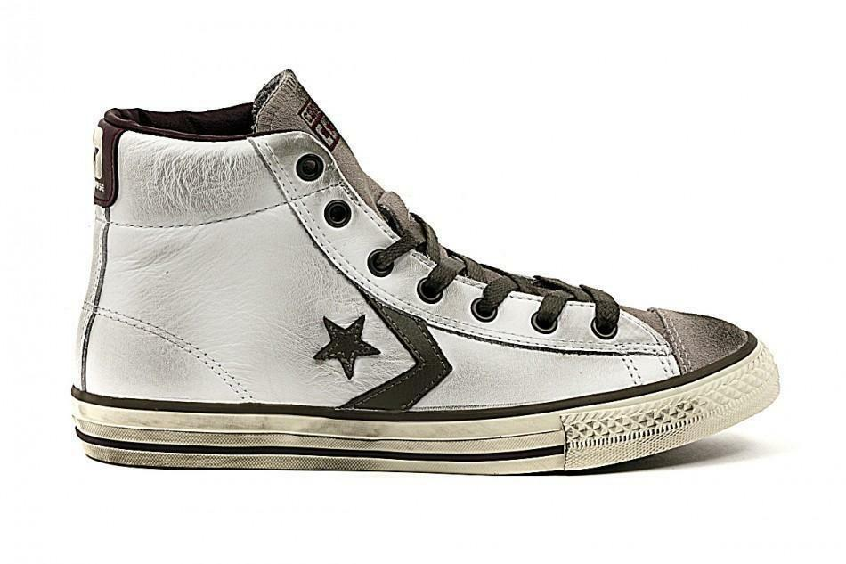 converse converse star play mid scarpe sportive bambino bianche vintage 641633c