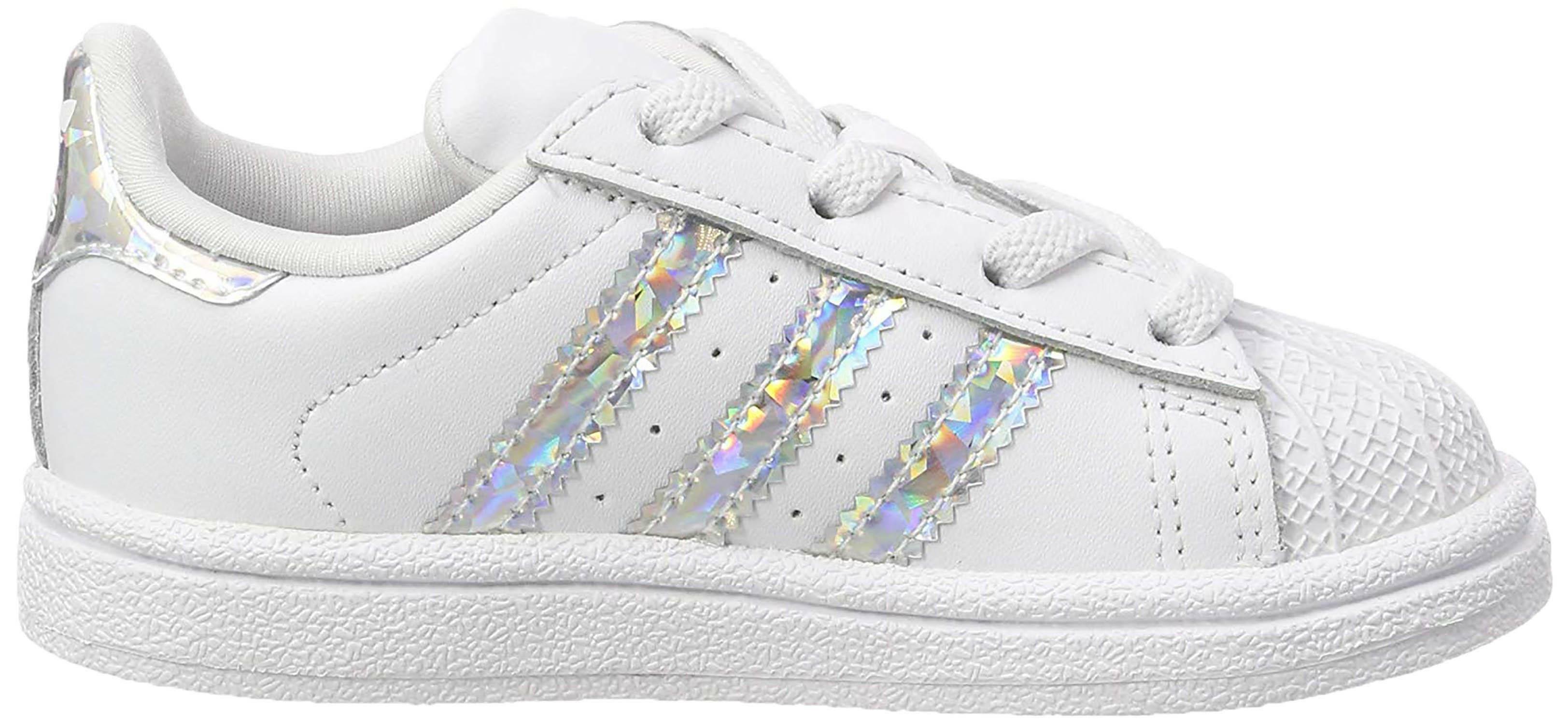 Adidas superstar el i scarpe sportive bambina bianche cg6707