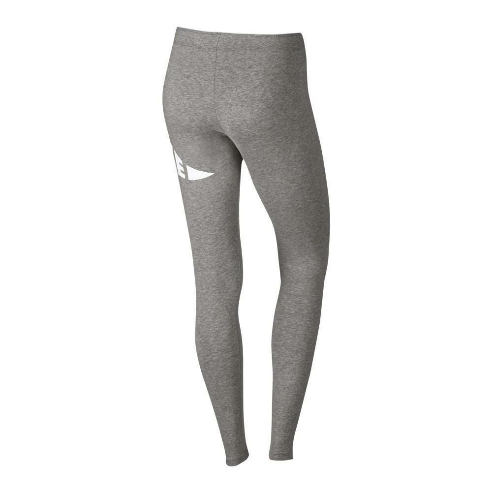 nike nike leggings donna cotone elasticizzato grigio