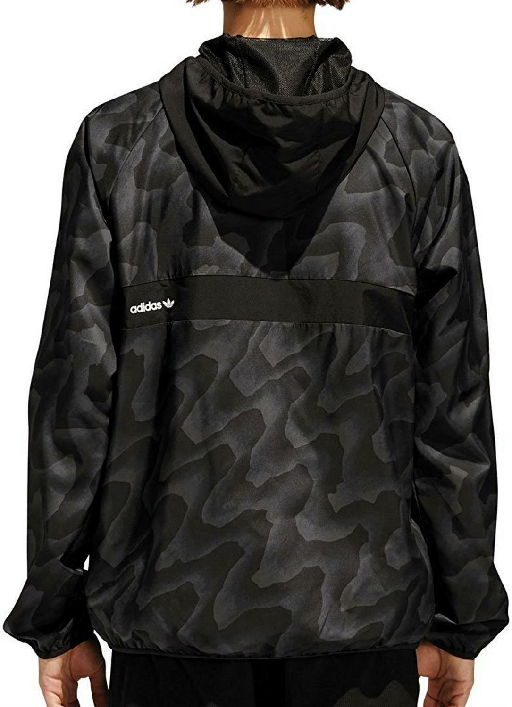 adidas adidas bb warp wind giacca a vento uomo nera cf5804