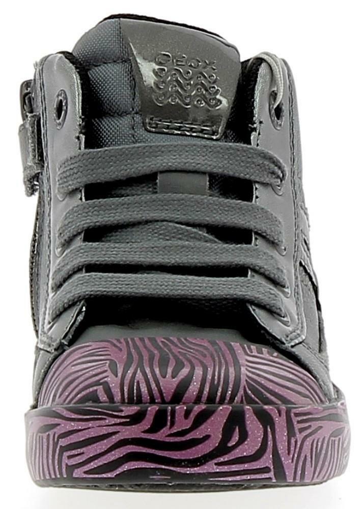 geox geox b kiwi g scarpe sportive bambina grigie