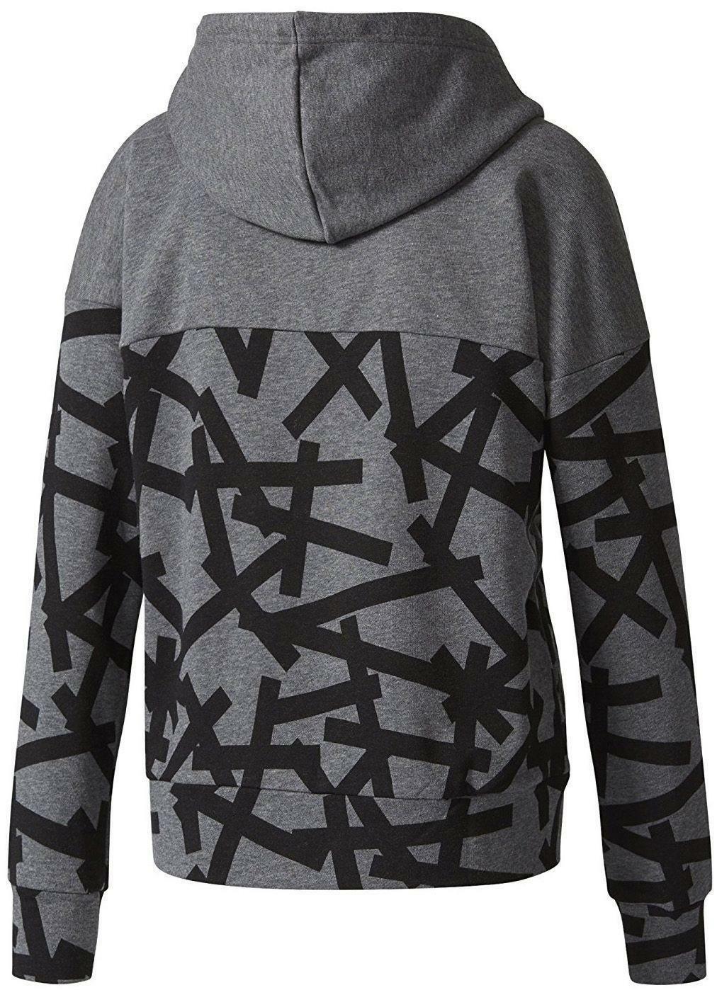 adidas adidas aop hoodie giacchetto donna grigio