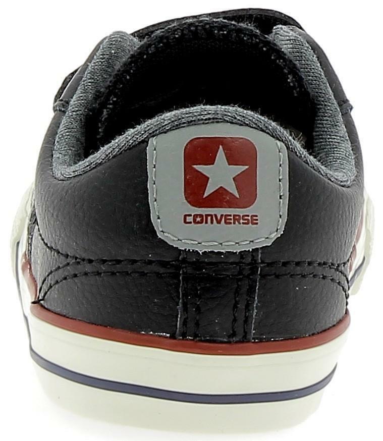 Converse star player ev 2v ox scarpe sportive bambino nere strappi