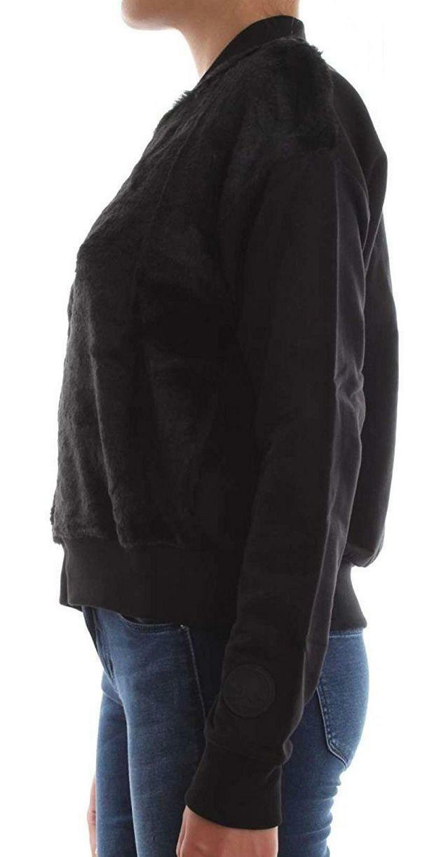 converse converse fleece track giacchetto donna nero
