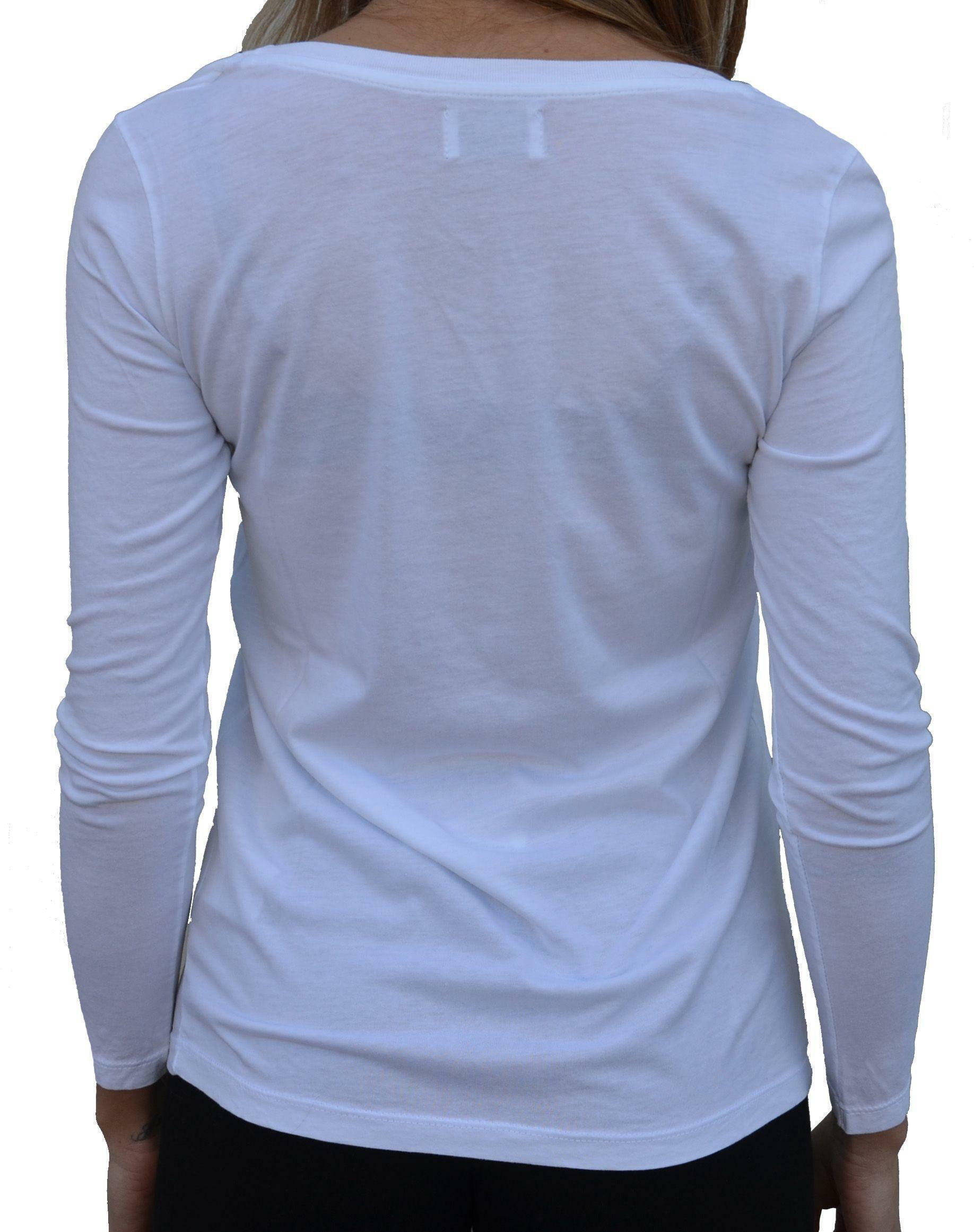 converse converse t-shirt maniche lunghe donna bianca glitter