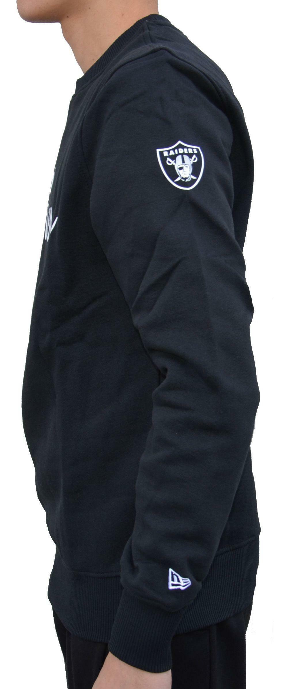 new era new era team apparel crew neck felpa uomo nera