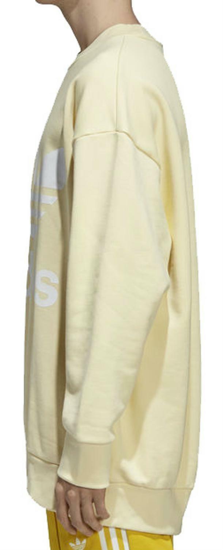 adidas adidas trefoil over felpa uomo gialla cw1239