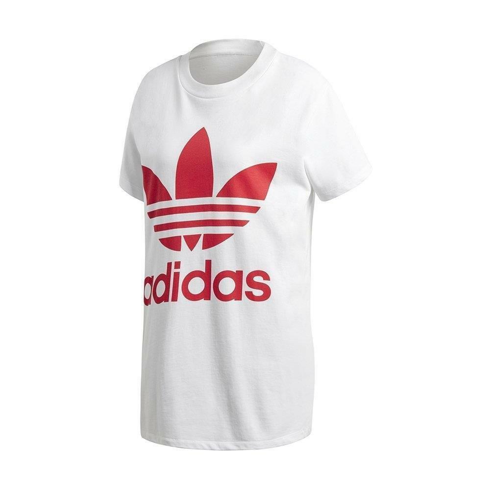 adidas adidas big trefoil tee t-shirt donna bianca
