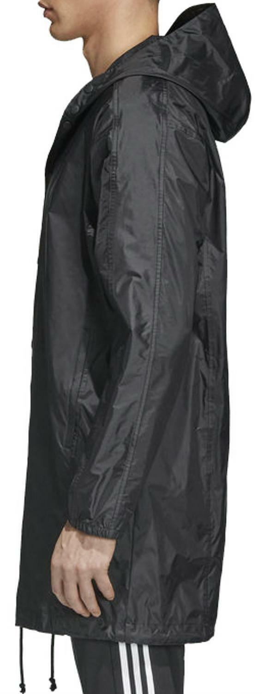 adidas adidas originals cappotto trefoil manager uomo nero cw1317